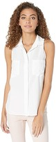 Bella Dahl Sleeveless Split Back in Tencera (White) Women's Clothing