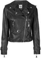 Twin-Set zip up biker jacket - women - Polyester/Viscose/Resin - XXS