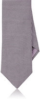 Brioni Men's Neat Jacquard Necktie-LIGHT PURPLE