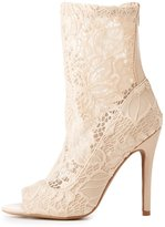 Charlotte Russe Qupid Lace Sock Ankle Booties