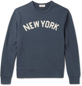 J.crew - Embroidered Loopback Cotton-jersey Sweatshirt