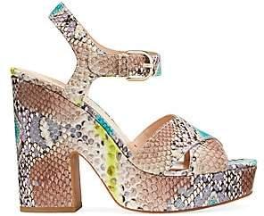 Kate Spade Women's Grace Embossed-Snakeskin Leather Platform Sandals