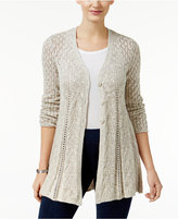 Style&Co. Style & Co. Petite Pointelle Flare-Hem Cardigan, Only at Macy's
