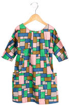 Caramel Baby & Child Girls' Geometic Print Sheath Dress