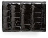 Boconi Men's Alligator Card Case - Black