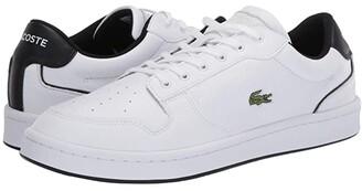 Lacoste Masters Cup 120 2 (White/Black) Men's Shoes