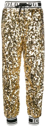 Dolce & Gabbana Side Band Sequin Trousers