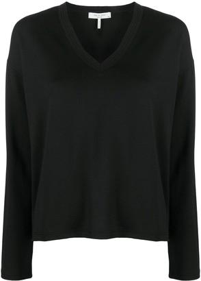 Rag & Bone V-neck long sleeve top
