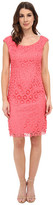 Adrianna Papell Floral Open Lace Sheath