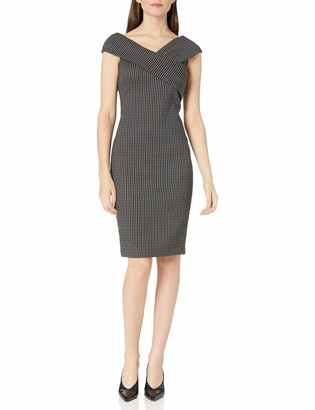 Calvin Klein Women's V-Neck Sheath Dress with Cross Front Detail