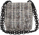 One Kings Lane Vintage Chanel Black & White Tweed Crossbody Bag