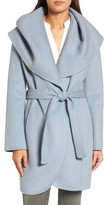 Tahari Women's Marla Double Face Wool Blend Wrap Coat