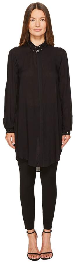 Versace High-Low Button Up Women's Clothing