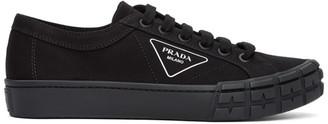 Prada Black Canvas Wheel Sneaker