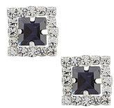 Cezanne Square Rhinestone Stud Earrings