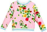 Milly Minis Rose-Print Sweatshirt, Size 8-14