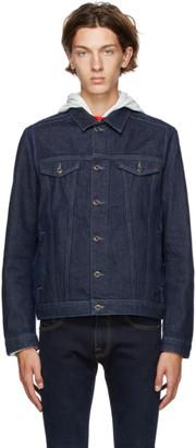 HUGO BOSS Navy Denim Extra Slim Jacket