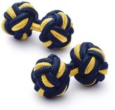 Charles Tyrwhitt Navy and gold knot cuff links