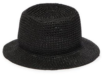 Reinhard Plank Hats - Baby Cotton-macrame Bucket Hat - Womens - Black