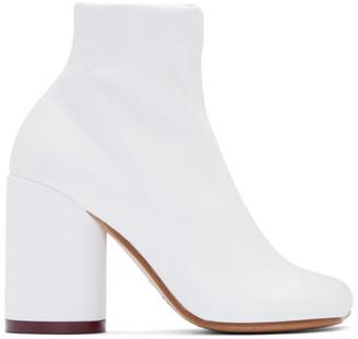 MM6 MAISON MARGIELA White Toe Boots