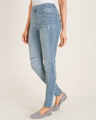 Chico's Destructed Pull-On Jeggings