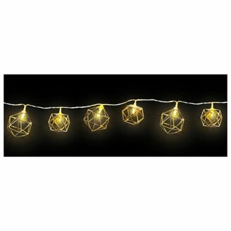 Amscan Geometric LED 66 ft. 10-Light Shaded String Light Bulb Shape: Geometric