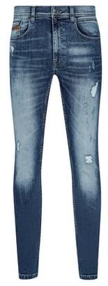 Dorothy Perkins Womens **Burton Mid Blue Distressed Tyler Skinny Fit Jeans, Blue
