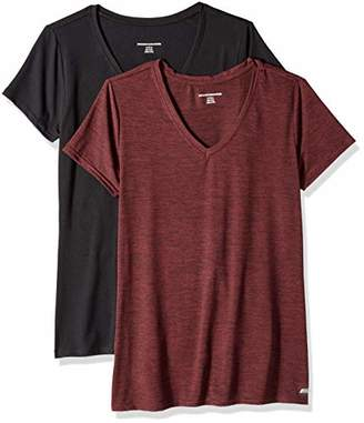 Amazon Essentials 2-Pack Tech Stretch Short-Sleeve V-Neck T-ShirtMedium