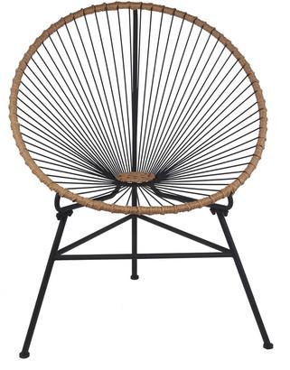 Privilege Black Metal Outdoor Chair