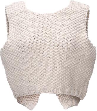 LE 17 SEPTEMBRE Le17 Septembre Knit Cotton Crop Top