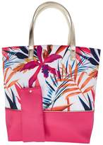 Sally Tropical Tote with Pink Bottom