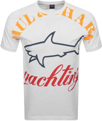 Paul & Shark Paul And Shark All Over Logo T Shirt White