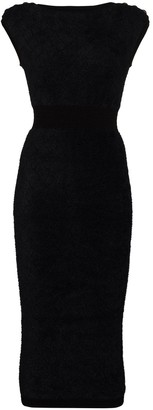 Balmain Fine-Knit Fitted Pencil Dress