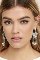 LuLu*s Lover of the Light Turquoise and Gold Rhinestone Earrings