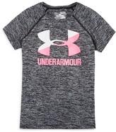 Under Armour Girls' Big Logo Tech Tee - Big Kid