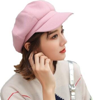 TMEOG Women's Beret Hat French Beret Winter Autumn Hat Ladies Girls Fashion Hats Beanie Cap Panel Baker Boy Flat Caps Newsboy Hats (Khaki)