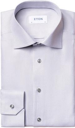 Eton Men's Slim-Fit Textured Twill Dress Shirt