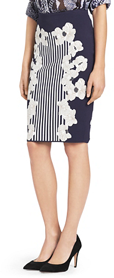 Diane von Furstenberg Kacee Heavy Knit Pencil Skirt