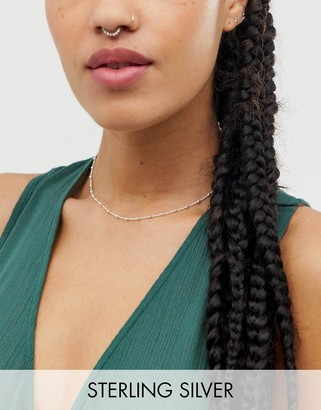 Kingsley Ryan exclusive sterling silver delicate chain choker necklace