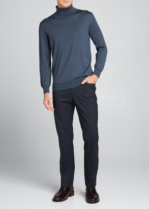 Brioni Men's Wool Long-Sleeve Turtleneck Sweater