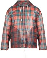 Burberry Tartan-print hooded jacket