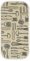 InterDesign iDry Microfiber Dish Drying Mat, Mini Utensils, 18-Inch by 9-Inch, Wheat/Ivory