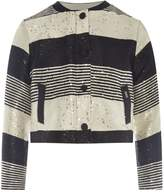 Karl Lagerfeld Girls Striped Sequin Tweed Jacket