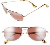 Maui Jim Women's 'Baby Beach' 56Mm Polarized Sunglasses - Gold/ Maui Rose