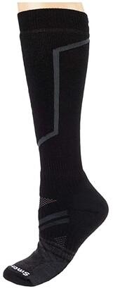 Smartwool PhD(r) Ski Medium (Black) Crew Cut Socks Shoes