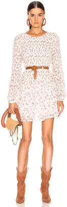 Frame Smoked Floral Dress in Off White Multi | FWRD