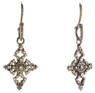 Armenta Diamond New World Cross Earrings