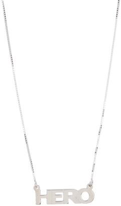 Melanie Marie Silver Word Pendant Necklace