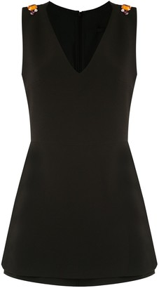 Eva V-Neck Sleeveless Playsuit