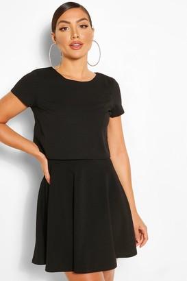 boohoo Doubled Layered T-shirt Skater Dress